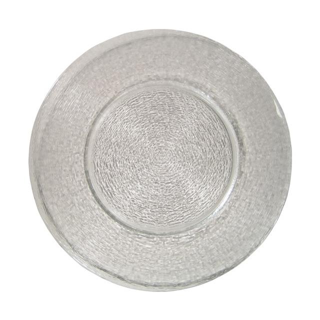 11221-eventtool24-Diverse Glaswaren-Glasteller Clear | rund Ø 33 cm