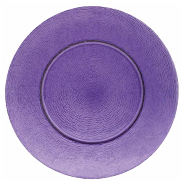 11226-eventtool24-Diverse Glaswaren-Glasteller Purple | rund Ø 33 cm