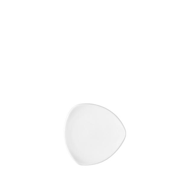 12505-eventtool24-Porzellan-Serie CREATIVE-Teller Creative flach | dreieckig 11 cm