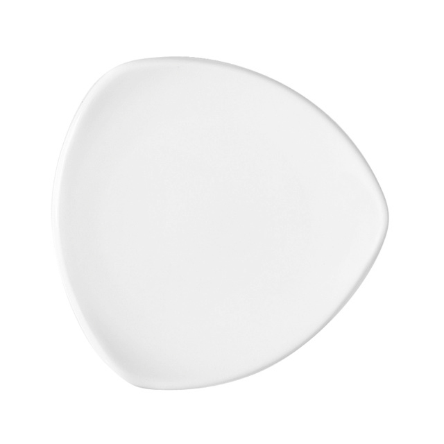 12507-eventtool24-Porzellan-Serie CREATIVE-Teller Creative flach | dreieckig 25 cm