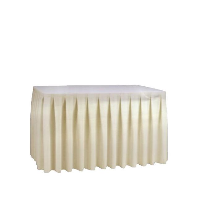 21141-eventtool24-Tisch-Skirting-Skirting champagner | 72 x 450 cm