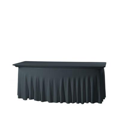 Banketttischhusse Royal schwarz | Stretch 180 x 80 cm