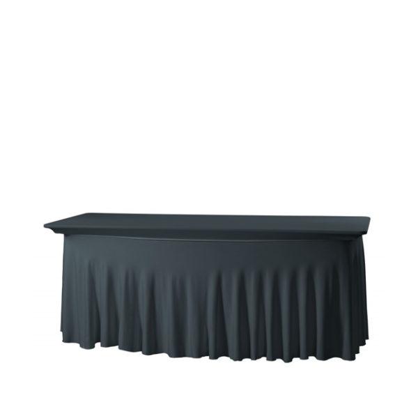 21142-eventtool24-Tischhussen-Banketttischhusse Royal schwarz | Stretch 180 x 80 cm