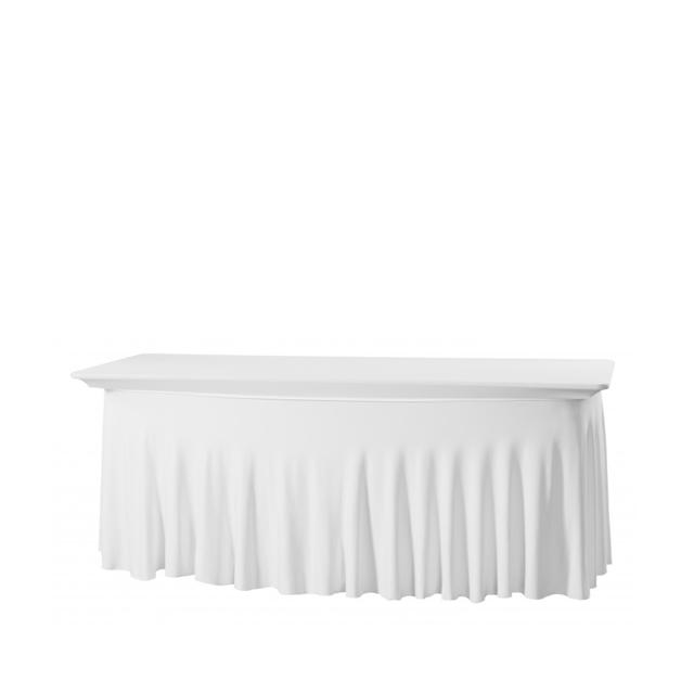 Bankettischhusse Royal weiß   Stretch 180 x 80 cm