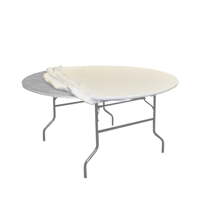 Tischmolton weiß | rund Ø 190  cm