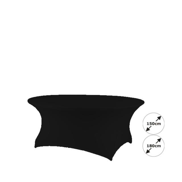 Banketttischhusse Creative schwarz | rund  Ø 180 cm