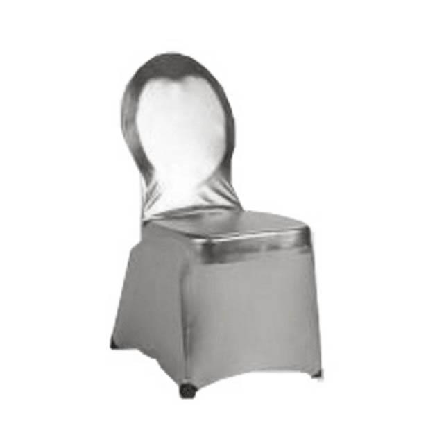Stuhlhusse Creative silber-metallic