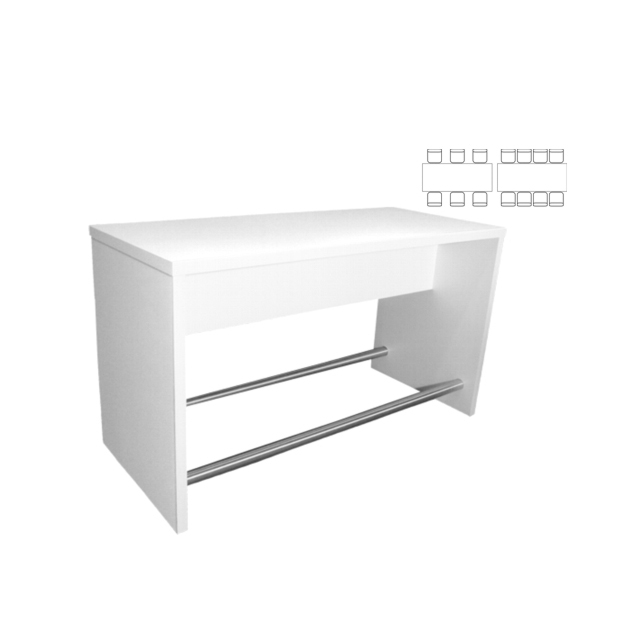 31250-eventtool24-Brückentische-High-Table White Lounge Group
