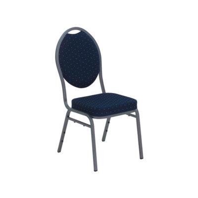 Bankettstuhl Classic mit Polsterung blau