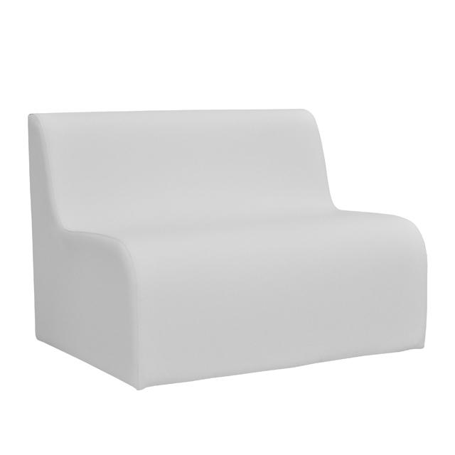 32301-eventtool24-Lounge WAVE-Loungesystem Wave Sofa 100 cm weiß