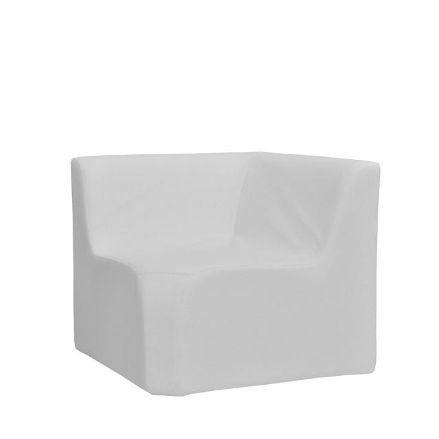 Loungesystem Wave Eckteil innen mit Lehnen weiß