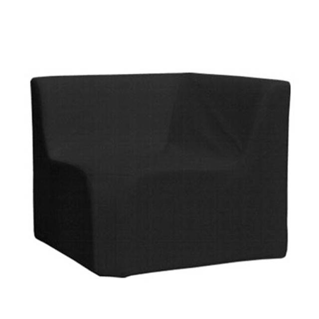 Loungesystem Wave Eckteil innen mit Lehnen schwarz