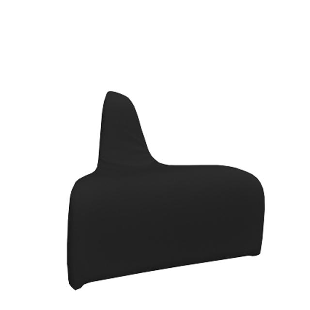 Loungesystem Wave Ecke aussen schwarz