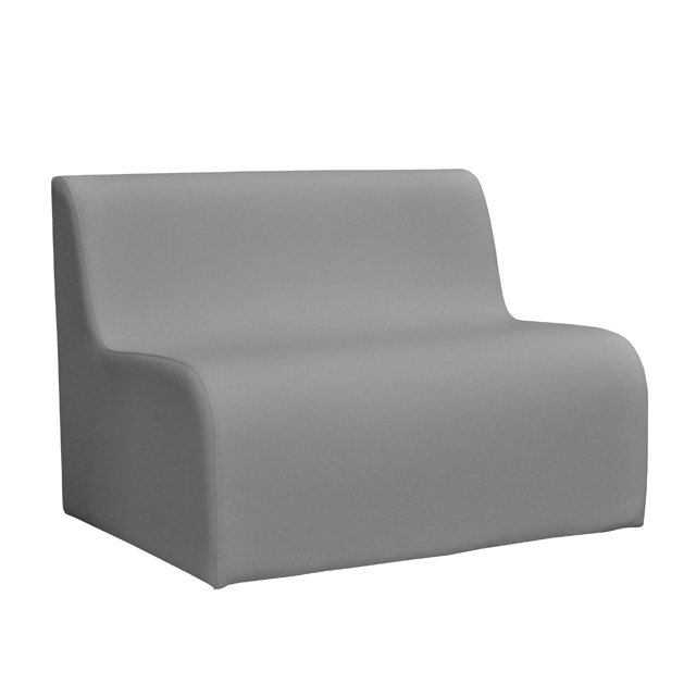 Loungesystem Wave Sofa 100cm grau