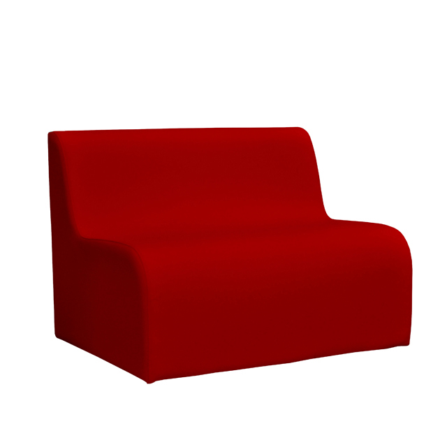 Loungesystem Wave Sofa 100 cm rot