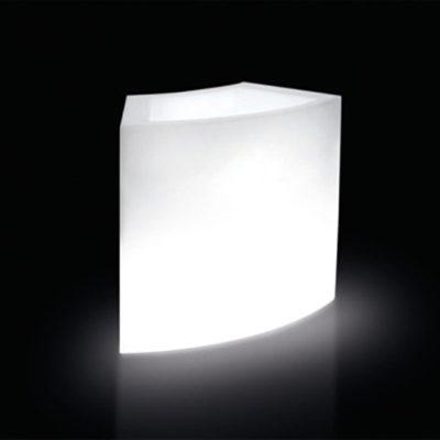 SLIDE | Leuchtbar Eis  | Pflanztopf Ice-Bar Slide 94 cm