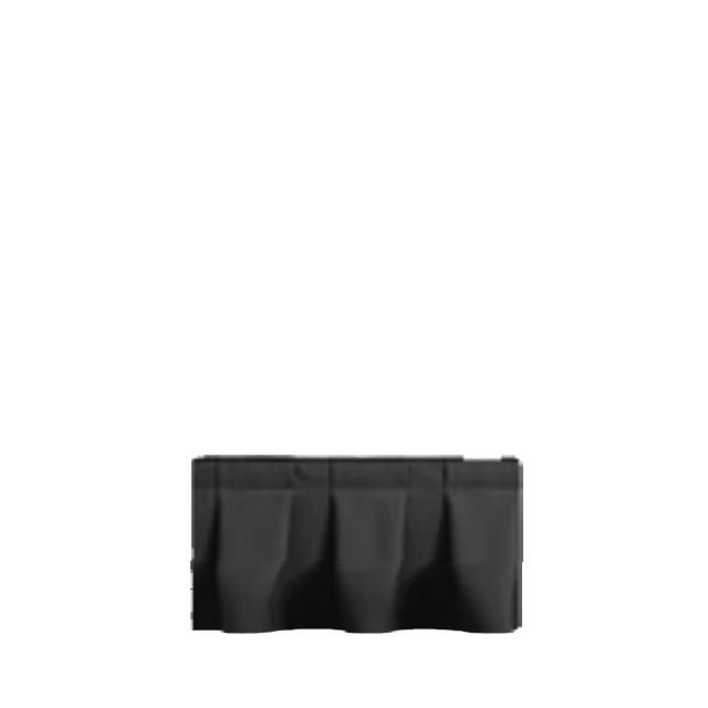 Bühnenskirting schwarz 4 lfm |  20 cm