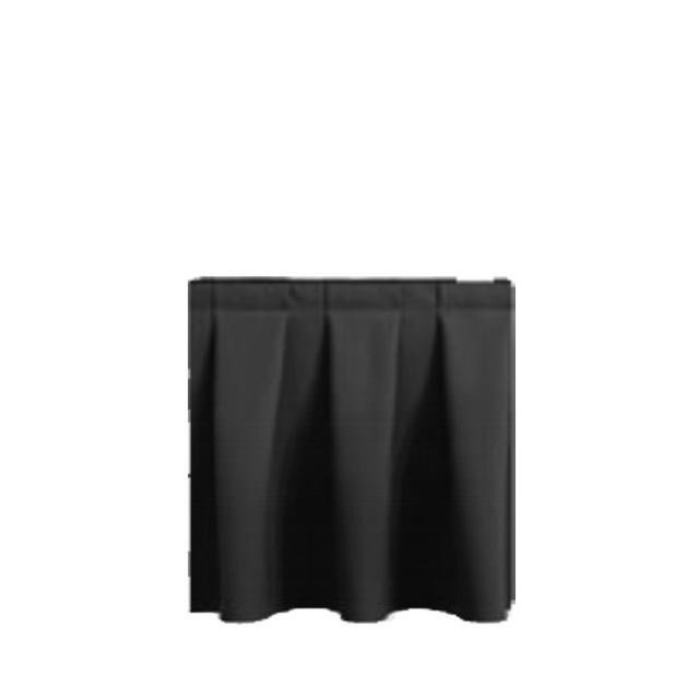 33207-eventtool24–Bühnenskirting schwarz 4 lfm | 40 cm