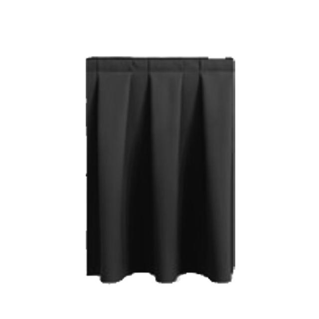 33208-eventtool24–Bühnenskirting schwarz 4 lfm | 60 cm