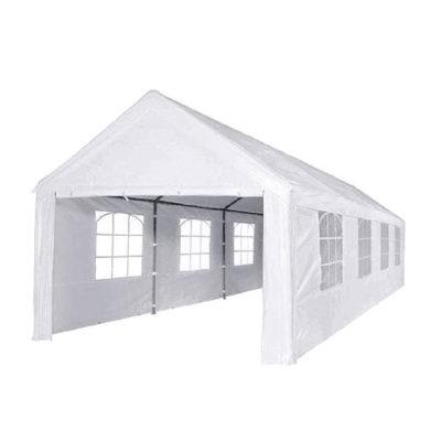 Partyzelt weiß | 4 m x 8 m