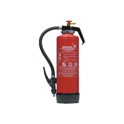 Fettbrandlöscher mit Hinweisschild