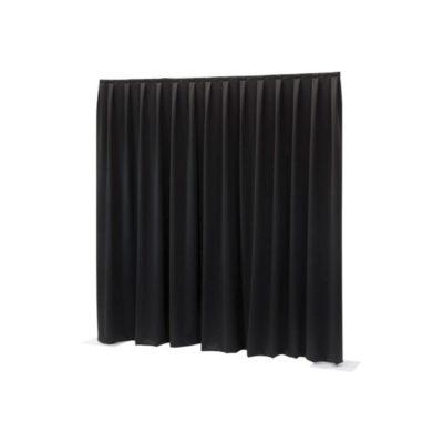 Pipe & Drape | Preis pro Laufmeter als Komplett-Set schwarz | einseitig