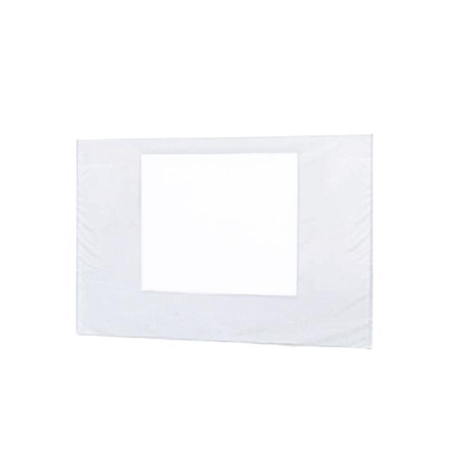 Faltpavillon Premium Seitenteil mit Fenster weiß | 3 m