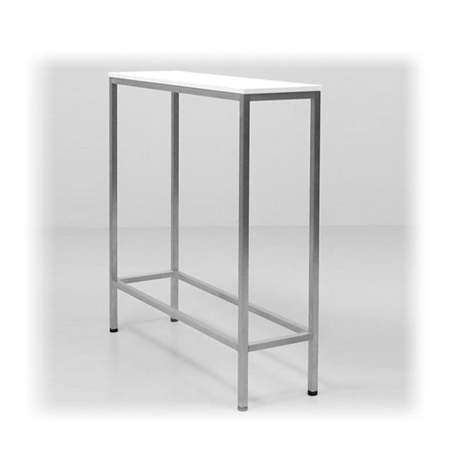 A1064-eventtool24- Barhocker & Stehtische-EVENTWIDE | Stehtisch White 30 cm x 100 cm