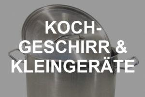 Kochgeschirr & Kleingeräte mieten