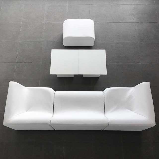 Lounge Wave - Sessel und Sofas mieten in Weiß, Grau, Rot & Schwarz
