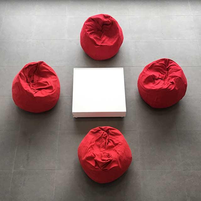 33151-eventtool24-Lounge-Pakete-Lounge-Paket SITZSACK 1 rot