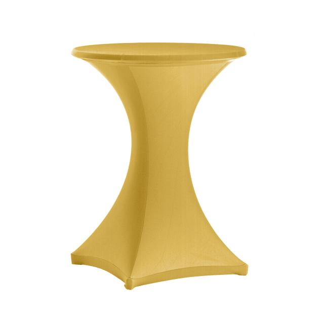 Stehtisch Stretchhusse gold | rund Ø 80-85 cm