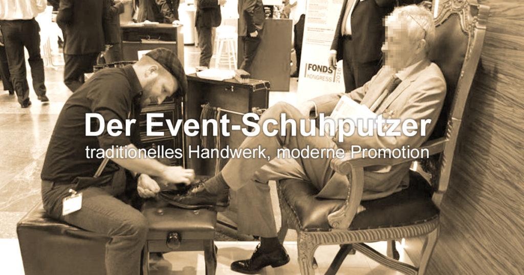ShoeShineBoy Event-Schuhputzer Messe