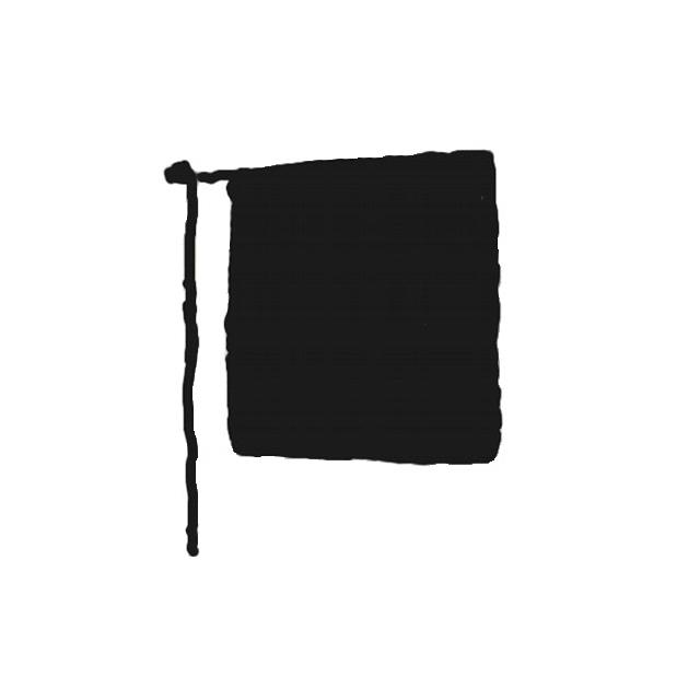 Vorbinder schwarz 100 x 50 cm