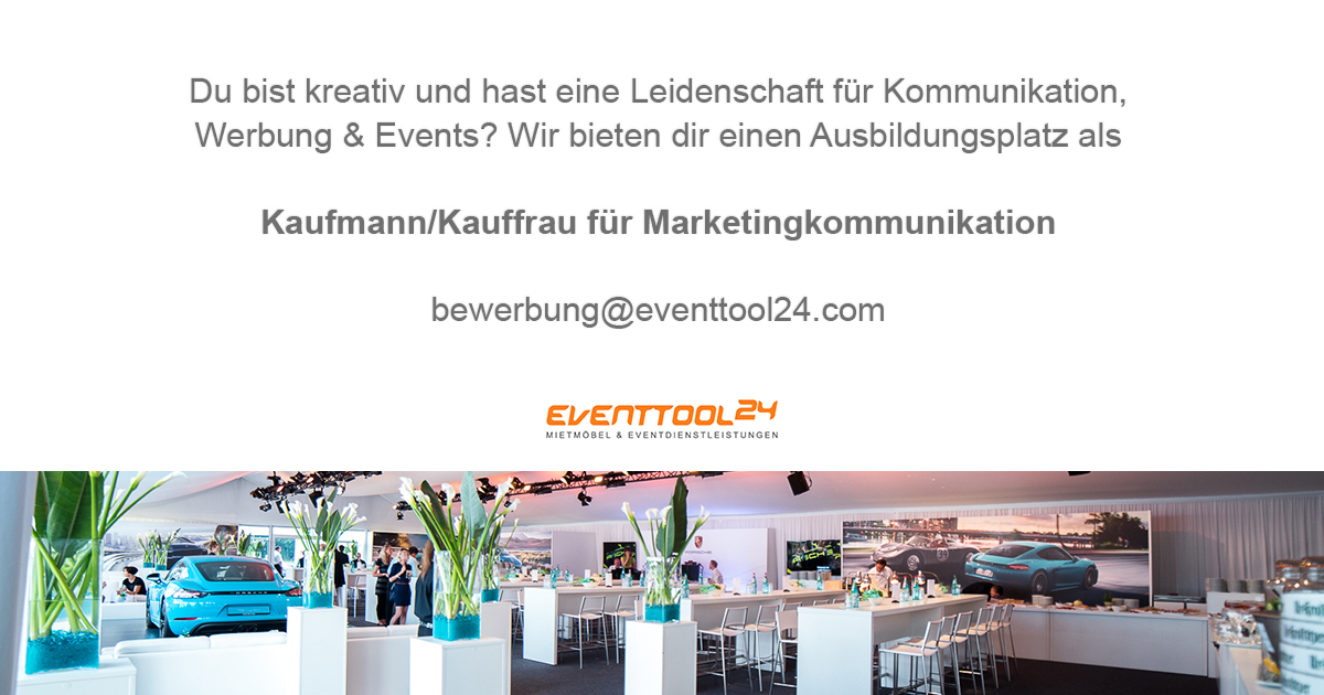 ausbildung kauffrau mann marketingkommunikation eventtool24. Black Bedroom Furniture Sets. Home Design Ideas