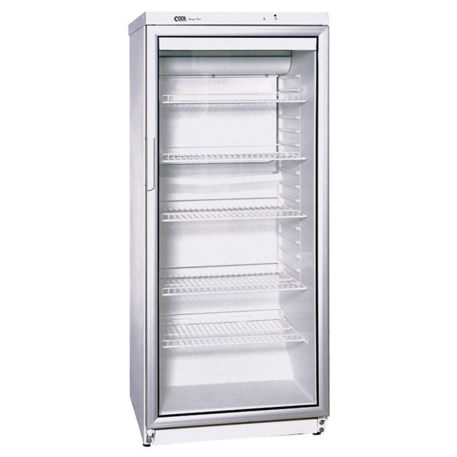 Flaschenkühlschrank mit Glastür | grau