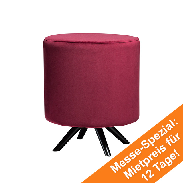 Blur Stool | Deep Ruby