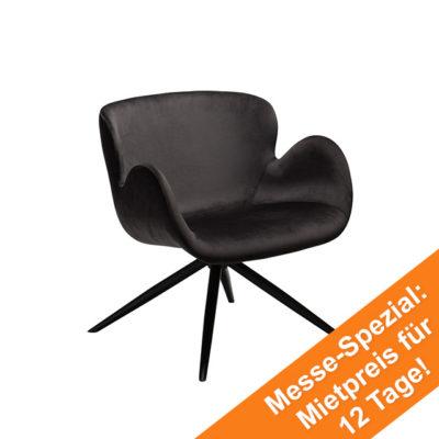 Gaia Lounge Chair | Meteorite Black