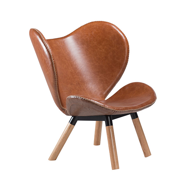 Butterfly Lounge Chair | Light Brown Leather