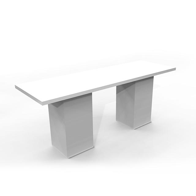 31251-eventtool24–Moderationstisch White Lounge 275 x 90 cm