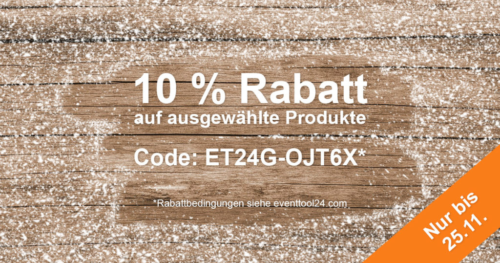 EVENTTOOL24 10 % Outdoor-Rabatt